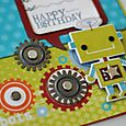 """Happy Birthday lil Robot"" Card detail"
