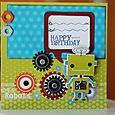 """Happy Birthday lil Robot"" Card"