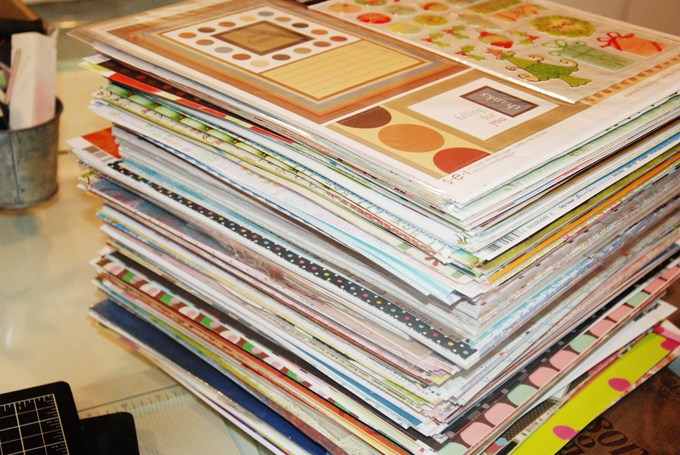 Image result for piles of scrapbooking paper
