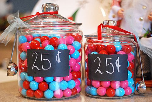 25 cents Gumballs {A Merry Sweet Treat}