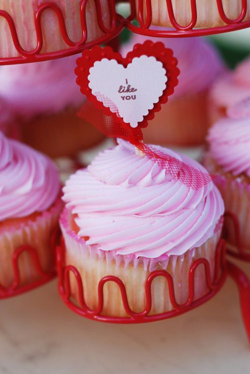 """I like you""  Love Notes Cupcake Topper"