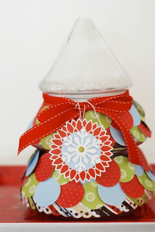 """Christmas Altered Jar"""