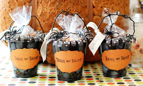 Trick or Treat Paper Cups (My Mind's Eye)