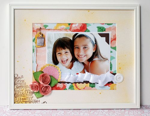 """Framed Spring Floral"" (Dear Lizzy by American Crafts)"