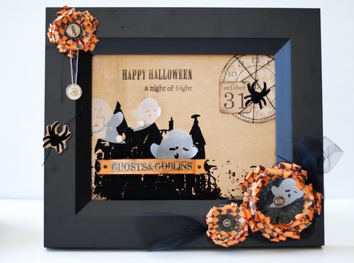 """Happy Halloween"" Altered Frame"