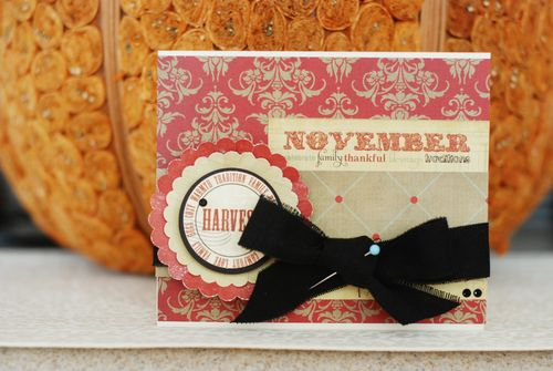 """Thanksgiving Harvest"" Card"