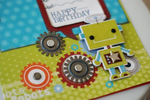 """Happy Birthday lil Robot"" Card detail"